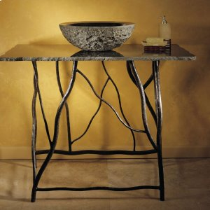 Iron Branch Console With Top Carrara Marble Product Image