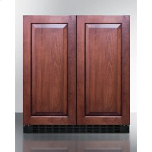 Frost-free Side-by-side Refrigerator-freezer for Built-in or Freestanding Use With Black Cabinet, Panel-ready Doors, and Digital Controls