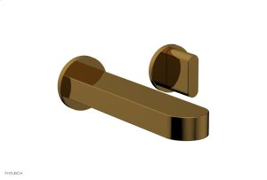 ROND Single Handle Wall Lavatory Set - Blade Handles 183-15 - French Brass Product Image