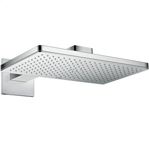 Chrome Overhead shower 460/300 1jet with shower arm and square escutcheon Product Image