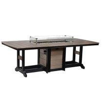 """44"""" x 96"""" Rectangular Fire Bar Table"""