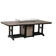 "44"" x 96"" Rectangular Fire Bar Table"