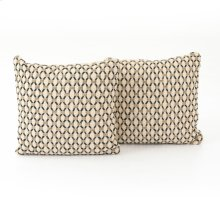 "20x20"" Size Mariposa Diamond Pillow, Set of 2"