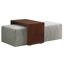 Broadway Cocktail Ottoman W/Slide