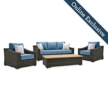 New Boston 4 Piece Wicker Patio Conversation Set