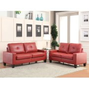 PLATINUM II RED SOFA/LOVESEAT Product Image