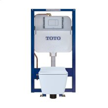 SP Wall-Hung Toilet & In-Wall Tank System - 1.28/0.9 GPF - Matte Silver