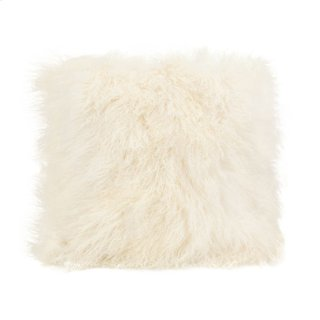 Lamb Fur Pillow Large Cream