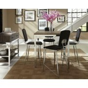Eldridge Weathered Grey and Chrome Five-piece Counter-height Dining Set Product Image