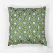 """L106 Teal/gold Gramercy Pillow 18"""" X 18"""""""