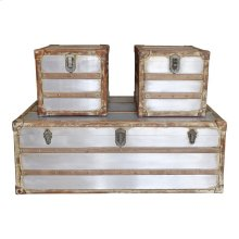 Steamer Trunk Coffee And Side Tables Set