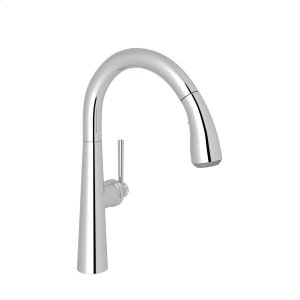 Polished Chrome Lux Pull-Down Bar/Food Prep Faucet with Lux Metal Lever Product Image