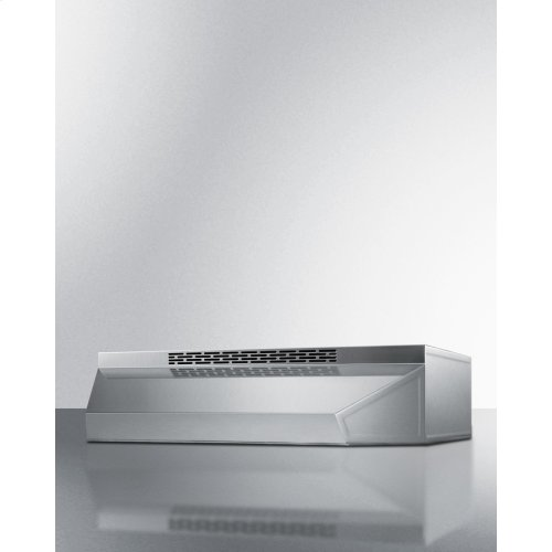 36 Inch Wide ADA Compliant Convertible Range Hood for Ducted or Ductless Use In Stainless Steel With Remote Wall Switch