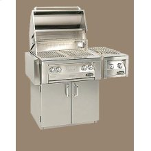 "Vintage 30"" Luxury Gas Grills - Cart Model with Optional Side Burner"