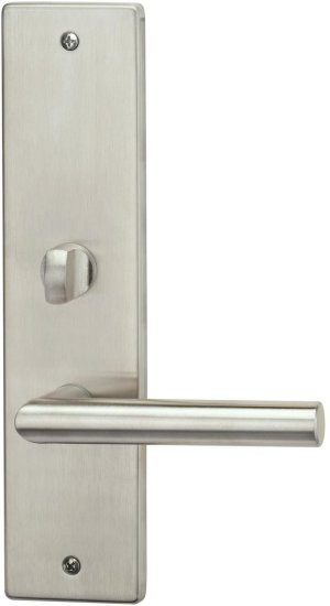 Exterior Modern Mortise Entrance Lever Lockset with Plates in (Interior Modern Mortise Entrance Lever Lockset with Plates - Stainless Steel) Product Image