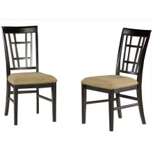 Montego Bay Dining Chairs Set of 2 with Cappuccino Cushion in Espresso
