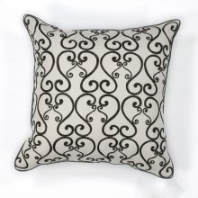 "L120 White/black Luminous Pillow 18"" X 18"""
