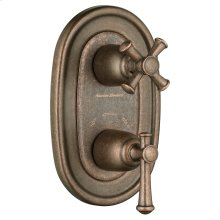 Portsmouth 2-Handle Thermostat Trim Kit - Oil Rubbed Bronze