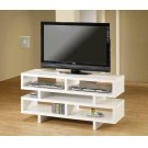 Contemporary White Open Storage TV Console Product Image