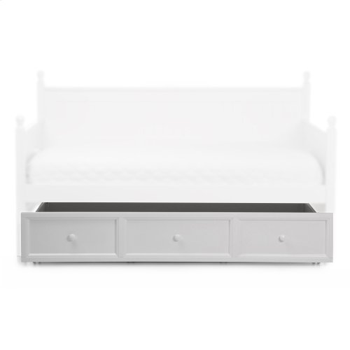 Casey Wood Roll Out Trundle Drawer for Daybed, White Finish, Twin