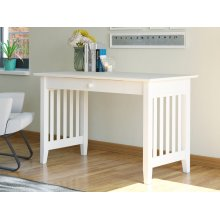 Mission Desk with Drawer in White