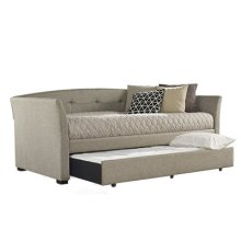 Morgan Daybed With Trundle, Natural Herringbone