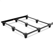 Presto Universal Sized Folding Bed Frame with Headboard Brackets, Charcoal