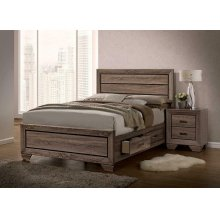 Kauffman Transitional Washed Taupe Eastern King Bed