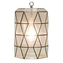 Small Clear Glass Faceted Pendant. Uses Single 60w Bulb. 3' Matching Chain Included. Additional Chain May Be Purchased Upon Request.