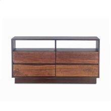 "San Marino Dresser 64"" Raw Walnut Ebony"