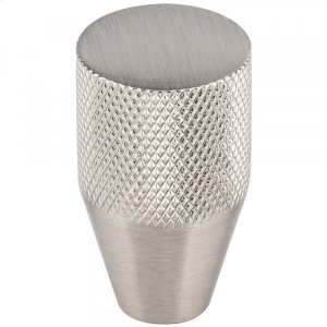 Beliza Conical Knurled Knob 3/4 Inch Brushed Satin Nickel Product Image