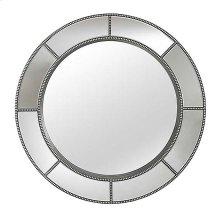 Beaded Round Mirror