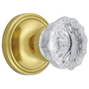 Nostalgic - Privacy Knob - Classic Rosette with Crystal Knob in Polished Brass Product Image