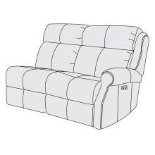 McGwire Right Arm Power Motion Loveseat in #6 Antique Brass