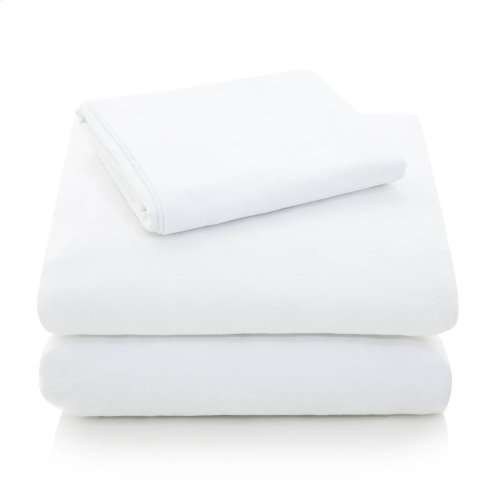 Portuguese Flannel Queen Pillowcase White