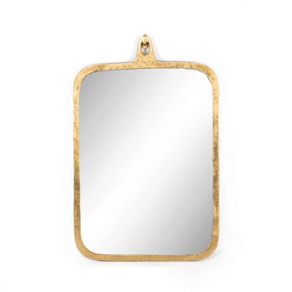 Hyde Large Mirror-gold Leaf