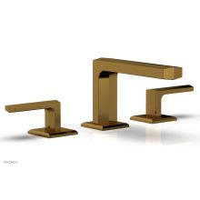 DIAMA Widespread Faucet - Lever Handles Low Spout 184-04 - French Brass