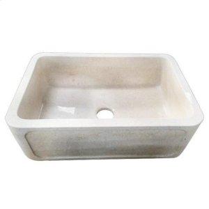 "Chardonnay Single Bowl Marble Farmer Sink - 33"" Product Image"