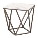 Tintern End Table Stone & Stone & Antique Brass Product Image