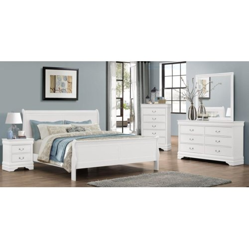 Bianco White LP Queen Bed