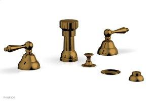 REVERE & SAVANNAH Four Hole Bidet Set D4100 - French Brass Product Image