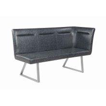 Contemporary Grey Left Side Facing Corner Bench