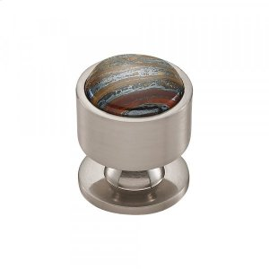 Firesky Iron Tiger Eye Knob 1 1/8 Inch Brushed Satin Nickel Product Image