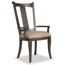 Dining Room Vintage West Upholstered Splatback Arm Chair