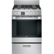 "24"" 2.9 Cu. Ft. Gas Free-Standing Range with Convection and Modular Backguard Product Image"