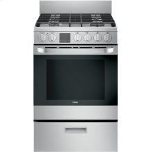 """24"""" 2.9 Cu. Ft. Gas Free-Standing Range with Convection and Modular Backguard"""