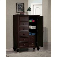 Sandy Beach Cappuccino Door Dresser With Concealed Storage Product Image