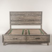Driftwood Storage King Bed Gray