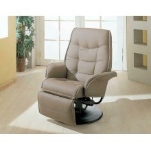 Berri Contemporary Beige Swivel Recliner