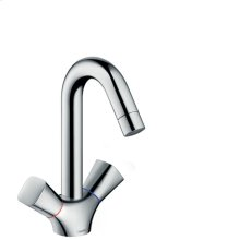 Chrome Single-Hole Faucet 150 with Swivel Spout and Pop-Up Drain, 1.2 GPM